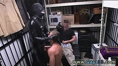 Small gay boy sex Dungeon sir with a gimp