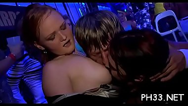 Blond cute waiter copulates everyone leaks every thing fingering asses