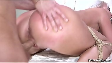 Big tits Milf in bondage gets anal fucked