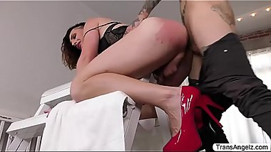 Tgirl Allysa gets pounded hard by Ruckus
