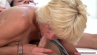 Horny grandma Diane Sheperd screwed