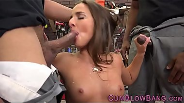 Blacked slut cum drenched