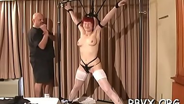 Miniature girl becomes bounded slave in hawt bondage scene