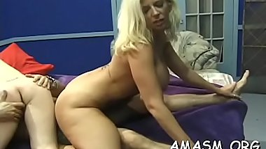 Babes in female domination scenes smothering horny dude