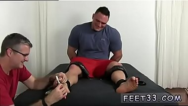 Gay boys feet domination Tough Wrestler Karl Tickled