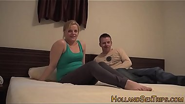 Dutch hooker sucks dick