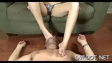 Footdomvideos.com vid with hawt playgirl teasing with sexy feet