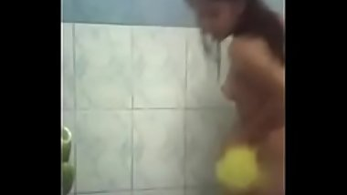 Asian Teen in Shower