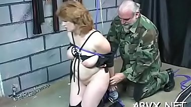 Needy gazoo chick spanked and roughly stimulated in bondage scenes