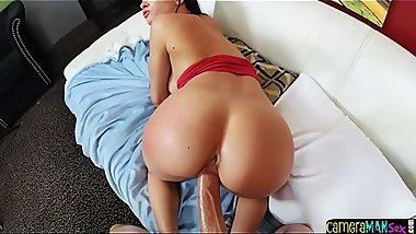 Busty glam babe drilled POV doggystyle