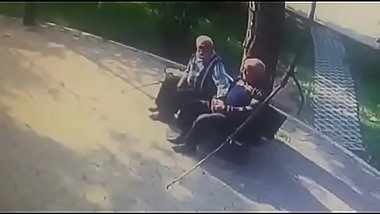 Old men outdoor kissing gay to gay