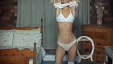 Skinny Teen Striptease