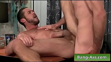 Brett Bradley &amp_ Mike DeMarko anal fucking in the office