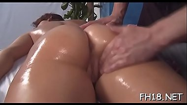 Hotty fucked after fleshly massage given by jake