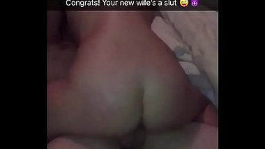 Bride to be fucked hard after party