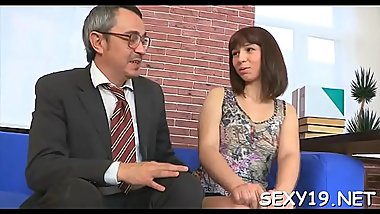 Horny teacher is pounding pleasing chick senseless