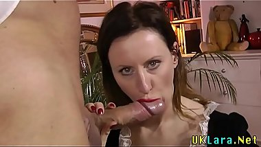 British cougar creampied
