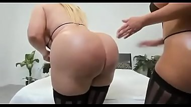 Two slutty teasing huge ass