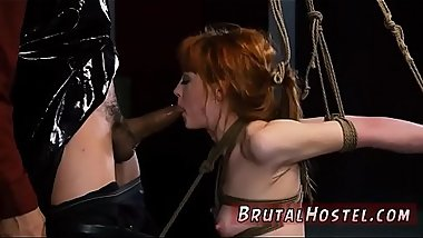 Rough strap on threesome double penetration big tits and wand bondage
