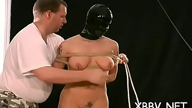Big wazoo woman endures cum-hole bdsm rough play  on cam