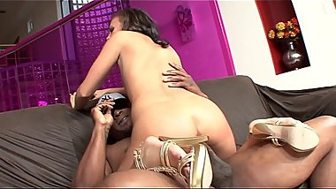 Sexy white girl Ivy Winters loves it when she rides tattooed black guy'_s big hard fuck rod