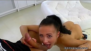 Nicole love gets cums in actions with three horny guys