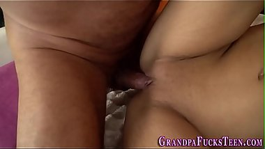 Teen spermed with old rod