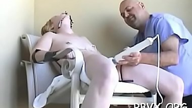 Real slavery action with a guy strapping this bitch tight