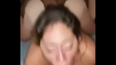 Housewife Getting Pigroasted By Two Huge BBCs