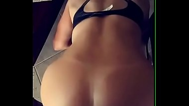 Sexy nude blonde babe with rounded ass fucking