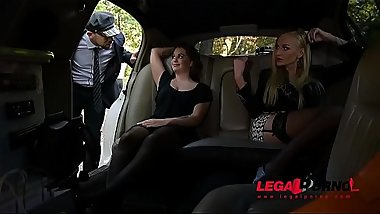Stretch Limo Hardcore Threesome With Leggy Kayla Green &amp_ Angelina Brill GP061