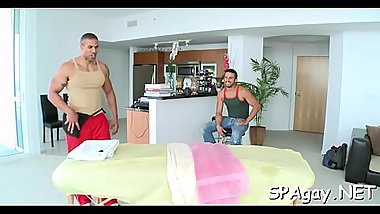 Carnal and satisfying homosexual massage session