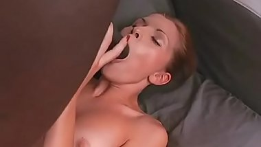 Young skinny bitch Katja enjoying large black dick