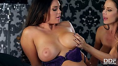 Lesbian Milfs Alison Tyler &amp_ McKenzie Lee lick their wet pussies &amp_ big tits