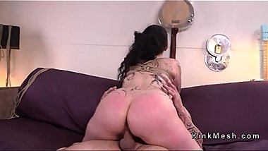 Huge ass slave fucked till got facial