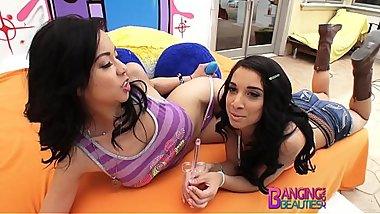 BangingBeauties Deepthroating Threesome Kimmy Lee, Mia Hurley
