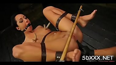 Attractive young girl gets roped and fucked hard sadomasochism style