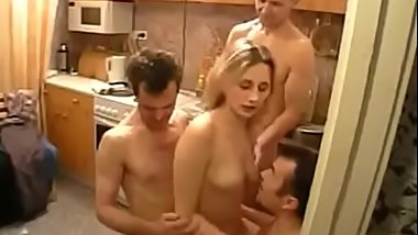 Gangbang on the hut, removed the whore from Chpok.fun