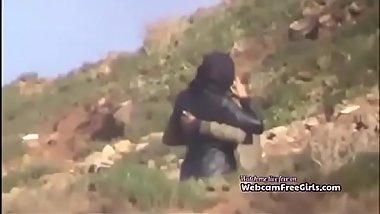Hijab couple caught having outdoor sex