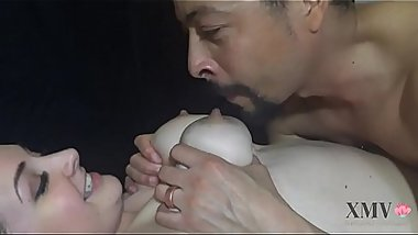 Milk Filled Tits are Fondled and Drained-Husband Breastfeeds from Wife and Fondles Her