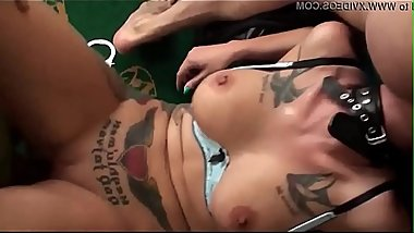 Tied up bdsm sub pounded in the butt