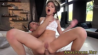 Babe anally rides for cum