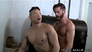 Straight Hairy Daddy Fucks Asian Muscle Behind Wife&rsquo_s Back