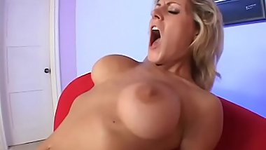 Randy blonde Velicity Von gives oral and gets anal fucked