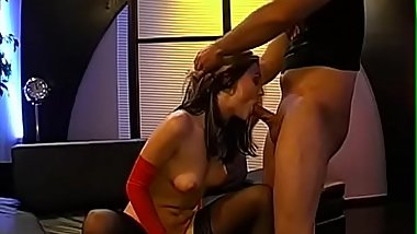 Lovely babe is forced to digest man protein till she'_s full