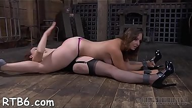 Lusty sweetheart is tying up sweet sweetheart for torture session